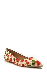 Women's Shoes Of Prey Pointy Toe Flat Red Multi Textile