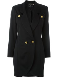 Chanel Vintage Fitted Smoking Jacket Black