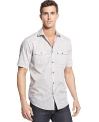 Alfani Big And Tall Short Sleeve Warren Shirt Kettle