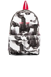 Off White Architectural Backpack In Abstract White Abstract