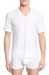 Men's Exofficio 'Give N Go' Mesh V Neck T Shirt White