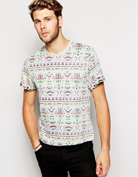 Another Influence Native Youth T Shirt In Geo Tribal Print Blue