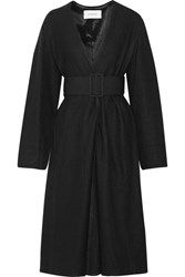 Christophe Lemaire Belted Wool Coat Black