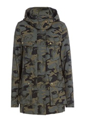 Veronica Beard Camouflage Printed Parka With Wool Gr. 2