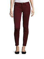Iro Jeans Five Pocket Ankle Length Burgundy