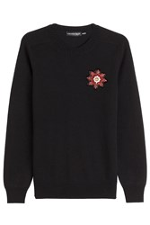 Alexander Mcqueen Cashmere Pullover With Embellishment Blue