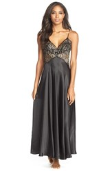 Women's Jonquil 'Vivian' Lace And Satin Nightgown