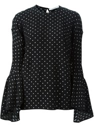 Givenchy Star Print Blouse Black