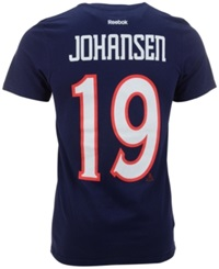 Reebok Men's Short Sleeve Ryan Johansen Columbus Blue Jackets Nhl Player T Shirt Navy