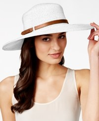 Nine West Packable Floppy Hat White