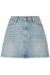 Frame Denim Le High Denim Mini Skirt Blue