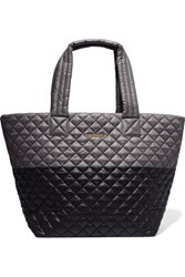 M Z Wallace Mz Metro Two Tone Quilted Shell Tote Gray