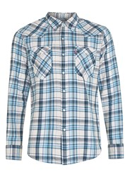 Topman Levi's Blue And White Check Western Shirt