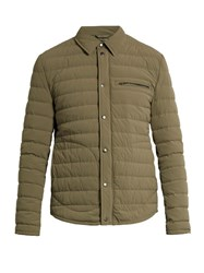 Vince Quilted Down Nylon Parka Khaki