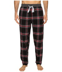 Kenneth Cole Reaction Open Bottom Pants Black Hester Plaid Men's Pajama