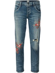 Citizens Of Humanity 'Madera Blossom' Cropped Jeans Blue