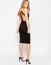 Oh My Love Midi Dress With T Bar Detail Black