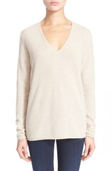 Women's Theory 'Adrianna' V Neck Cashmere Pullover Light Heather