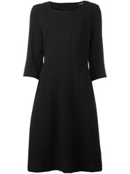 Twin Set Pleated Trim Dress Black