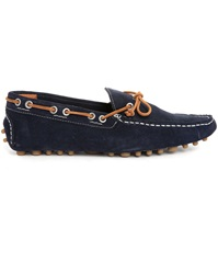 Jack And Jones Cannes Navy Suede Laced Slip Ons