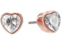 Michael Kors Cz Hearts Stud Earrings Rose Gold Earring