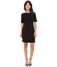 Christin Michaels Becca Crepe Pocket Dress Black Women's Dress