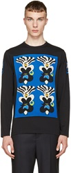 Marc By Marc Jacobs Blue And Black Character T Shirt