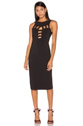 By Johnny Open Knot Front Dress Black