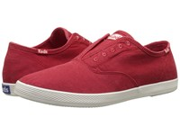 Keds Champion Chillax Washed Twill Red Men's Slip On Shoes