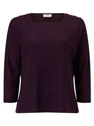Eastex Square Neck Texture Top Purple