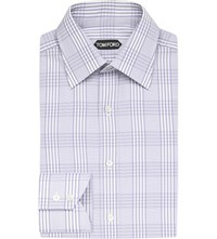 Tom Ford Regular Fit Cotton Shirt Lilac