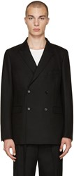Christophe Lemaire Black Double Breasted Blazer