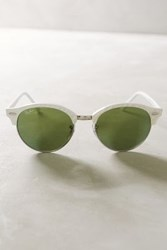 Anthropologie Ray Ban Clubround Sunglasses White One Size Eyewear