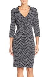 Women's Donna Ricco Print Jersey Sheath Dress