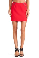 Bcbgeneration Zipper Detail Mini Skirt Red
