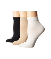 Sperry Anklets 3 Pack Black Assorted Women's Low Cut Socks Shoes Multi