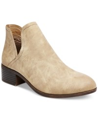 Madden Girl Zavier Chop Out Ankle Booties Women's Shoes Stone