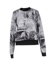 American Retro Topwear Sweatshirts Women Grey
