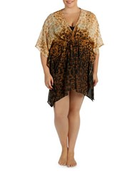 Karen Kane Plus Rio Caftan Brown