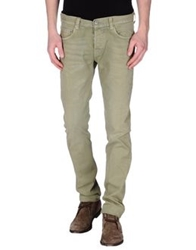 Care Label Casual Pants Military Green