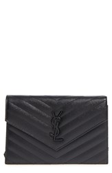 Saint Laurent Women's Quilted Leather Wallet On A Chain