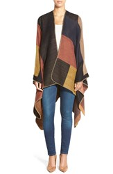 Rd Style Colorblock Poncho Style Wrap Saddle