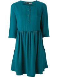 Love Moschino Pleated Mini Dress Green