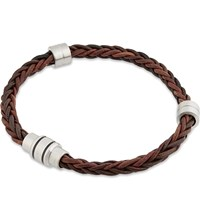 Ted Baker Block Two Tone Woven Bracelet Chocolate