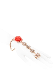 Mawi Rose Garden Bracelet And Ring Coral