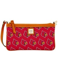 Dooney And Bourke Louisville Cardinals Ncaa Large Wristlet Red