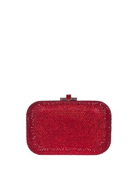 Judith Leiber Couture Crystal Slide Lock Clutch Bag Siam