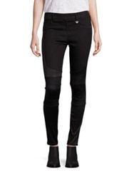 True Religion Runway Moto Leggings Black River