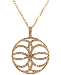 Effy Collection Effy Diamond Circle Pendant Necklace 5 8 Ct. T.W. In 14K Gold Yellow Gold