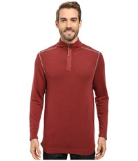 True Grit Lightweight Tencel 1 2 Zip Pullover Brick Men's Clothing Red